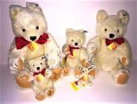 5 STEIFF Teddy Bear Collector's Edition 0203/00 1982 NOS - Signed by Otto Steiff