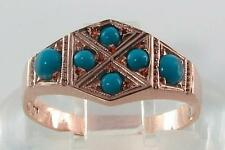 Turquoise Rose Gold Victorian (1837 - 1901) Fine Rings