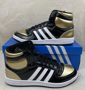 Adidas Top Ten Hi (RB) Black Gold  Patent Men's Size 10 (FX7873)