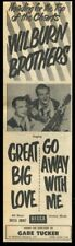 1956 The Wilburn Brothers photo Decca Records vintage trade print ad