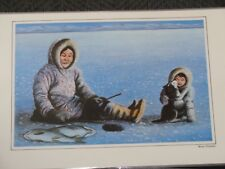 Mona Thrasher.Canada.Inuit Painter.Reversible.Placem at.Picture.Sled Dog.Laminted