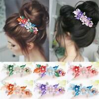 Women Headwear Accessories Flower Barrettes Hairpin Rhinestone Crystal Hair Clip