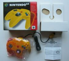 NEW Official Nintendo 64 N64 Yellow Controller Complete In Box CIB OEM NIB  #1