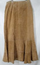 NWT Saguaro West Women's Large 30/33 Waist Long Suede Honey Whipstitch Skirt