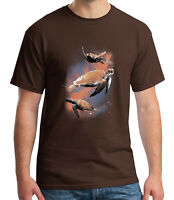 Cool Turtles in the Space Adult's T-shirt Turtle Lovers Tee for Men - 1920C