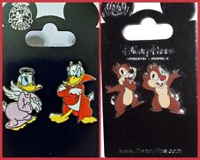 Donald Angel Devil + Chip and Dale whispering Disney Parks Pin Lot - NEW