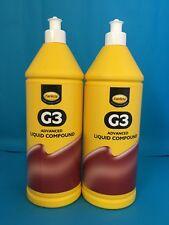 Farecla G3 Advanced Liquid Compound 1 Litre Car Polishing Paint Restorer X 2