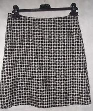 lovely HOBBS lambswool dog tooth check a line mini skirt 10