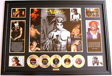 TUPAC 2PAC SIGNED LIMITED EDITION FRAMED MEMORABILIA