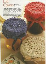 Crochet Pattern ~ COUNTRY JAR LID COVERS ~ Instructions