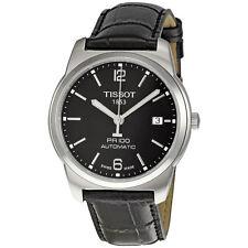 Tissot PR 100 Black Leather Mens Automatic Watch T049.407.16.057.00-AU