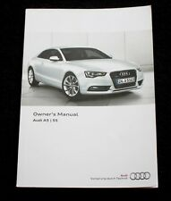 GENUINE AUDI A5 / S5 HANDBOOK OWNERS MANUAL 2011-2017 BOOK