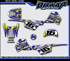 Yamaha PW-50 Graphics Decal Kit Blue