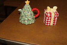 Christopher Radko Traditions Holiday Celebrations Tree Creamer & Present Sugar