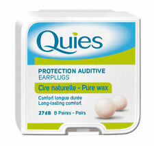 Quies Pure Natural Wax Ear Plugs x 8 Pairs 6 Boxes