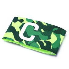Football Soccer Flexible Sports Adjustable Bands Camouflage Captain Armband LJ Green