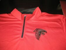 MENS NBA MAJESTIC THERMA BASE ATLANTA FALCONS 1/4 Zip TOP 2XL RED/BLACK NWT