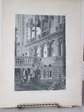 Vintage Print,TRANSEPT,Rome,Francis Wey,1872