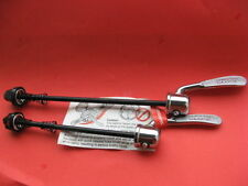 Vintage fixation rapide set shimano chrome old school quick release steel nos NEUF