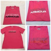 Under Armour Wordmark Men's Florescent Salmon Short Sleeve Gym T-Shirt