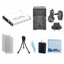 NP-BN1 Battery + Charger for Sony DSC-TX100 DSC-W690 DSC-TX10 + Kit