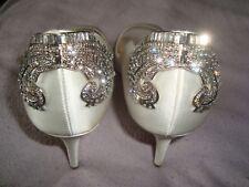 JL by JUDITH LEIBER UK 7.5 EU 41 US 9.5 WHITE SILK  shoes RRP £195.00
