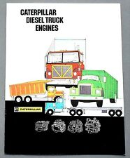 ORIGINAL 1984 CATERPILLAR DIESEL TRUCK ENGINES BROCHURE ~ 8 PAGES ~ 84CATD