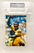 Pele Brazil World Cup Autographed 4x6 Photo Signed PSA/DNA Slabbed Graded 9