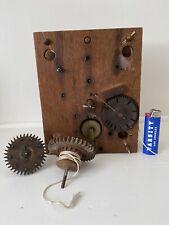 Antique American Wooden Works Weight Driven Shelf Clock Movement Parts Aafa