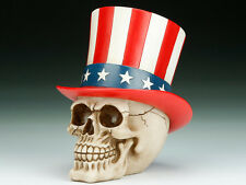SKULL UNCLE SAM SKELETON FIGURINE STATUE HALLOWEEN