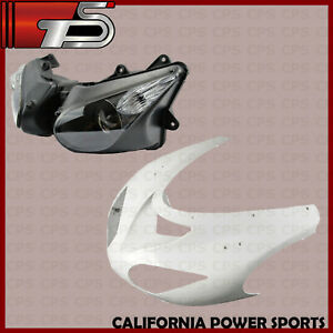 Unpainted Right Side front nose Upper Fairing For KAWASAKI 04-05 Ninja ZX10R