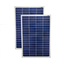 Mighty Max 200 Watt Solar Panel Poly 2pc 100w Watts 12V RV Boat Home - 2 Pack