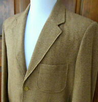 The TERRITORY AHEAD Mens Sz L Brown SILK TWEED 3-Button Vented BLAZER Sport Coat