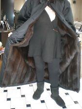 Vintage FUR  NEVER WORN BLACK RAINCOAT & DARK BROWN RANCH MINK LINING & MINK HAT