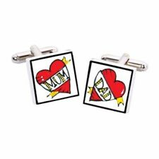Mum and Dad Cufflinks by Sonia Spencer, Hand painted, RRP £20!