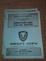 XM177E2 book, operation maintenance repair 5.56-mm Sub, Rock Island Arsenal