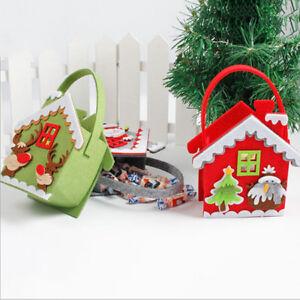 Christmas Gift Bags No-woven Fabric Bag Candy Box Kids Xmas Party Favor FI
