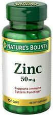 Nature's Bounty Zinc 50 mg Caplets 100 ea (Pack of 4)