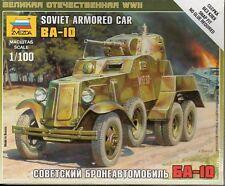 Zvezda 1/100 Soviet BA-10 Armoured Car  Z6149