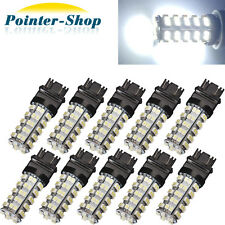 10 X 6000K White 3157 68 SMD LED Tail/Brake/Stop Light Bulbs T25 3057 3457 4157