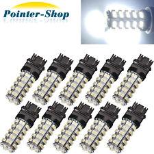 10 x  6000K White 3157 Brake Tail Stop 12V LED Bulbs 68-SMD T25 3057 3457 4157