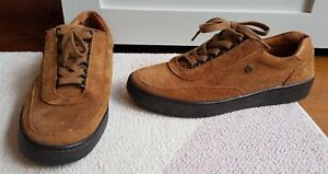 Pretty Green Mens Brown Suede Trainers Lace Up Shoes Size 9