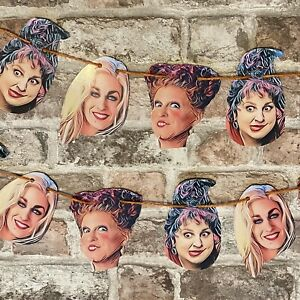 Hocus Pocus Garland Sanderson Sisters Halloween Decoration Bunting