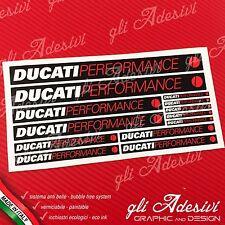 Set 13 Adesivi DUCATI Performance OLD moto Nero Bianco e Rosso