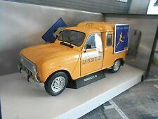 RENAULT 4 Kastenwagen 4LF4 1975 La Poste Post Solido Metall NEU 1:18