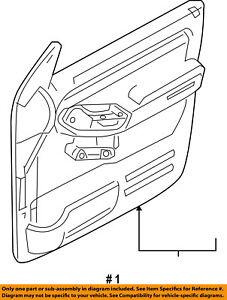 FORD OEM Explorer Sport Trac Front Door-Interior Trim Panel Right 8L9Z7823942FB