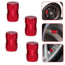 4x New Red Metal Tyre Valve Alloy Dust Caps Car Cover Motorbike Bike Van Parts