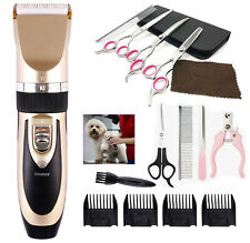 Electric Dog Hair Trimmer Shaver Razor Grooming Clippers Cordless Pet Scissors
