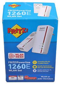 AVM FRITZ!Powerline 1260E Wireless & LAN WPA2 AVM WiFi WLAN AC+N PowerLAN DLAN