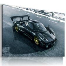 PAGANI ZONDA BLACK SUPER Sports Car Wall Art Canvas Picture AU680 MATAGA .